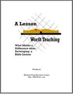 A Lesson Worth Teaching Workbook