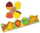 Autumn Bulletin Board Trim, Accents, Cutouts