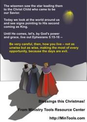 Reflect on Verses about Christmas - Wisemen Seek Him