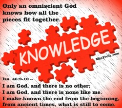 the principle knowledge that god is omniscience Start studying ethics quiz 2/ aquinas and divine command learn vocabulary,  to honor the neighbor is a moral principle,  god is not omniscience ( god,.