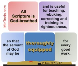 Scripture Thoroughly Equips for Every Good Work
