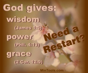 God Gives What We Need to Restart