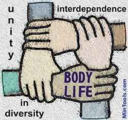 Body Life result in unity in diversity, interdependence