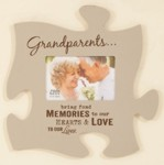 Puzzle Piece Frame - Grandparents Bring Fond Memories