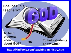 teacher training and teaching resources for Bible teachers