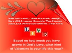 Valentine Message about Love